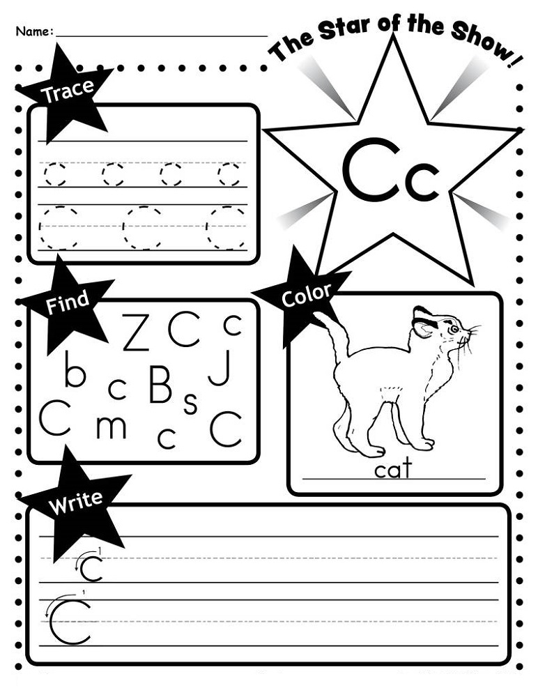 Writing & Trace Letter C