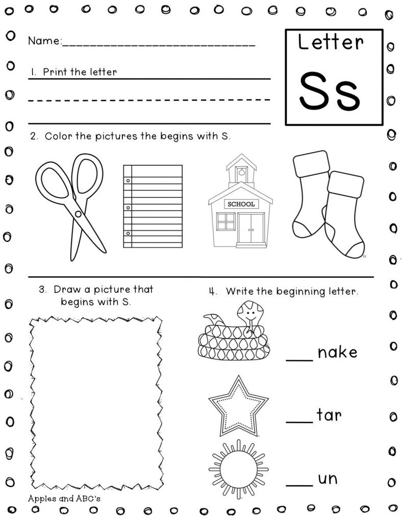 Fun Letter S Worksheets