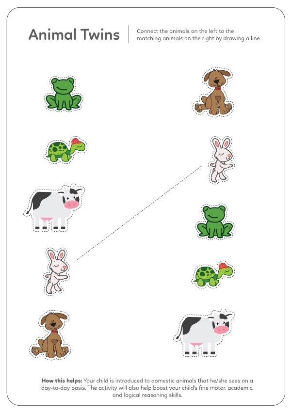 Match Worksheets For 2 Year Olds