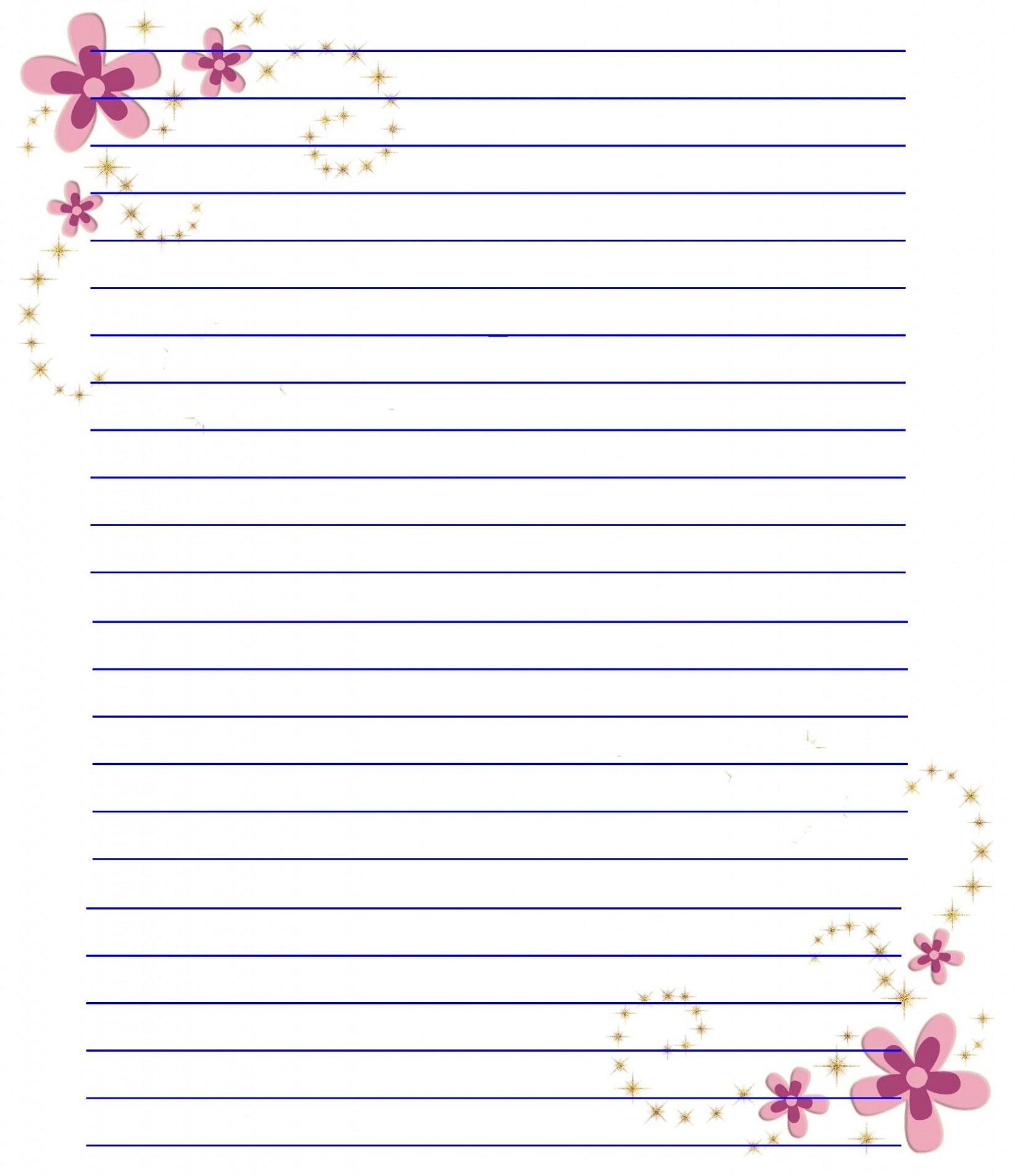 Spring Printable Notebook Paper