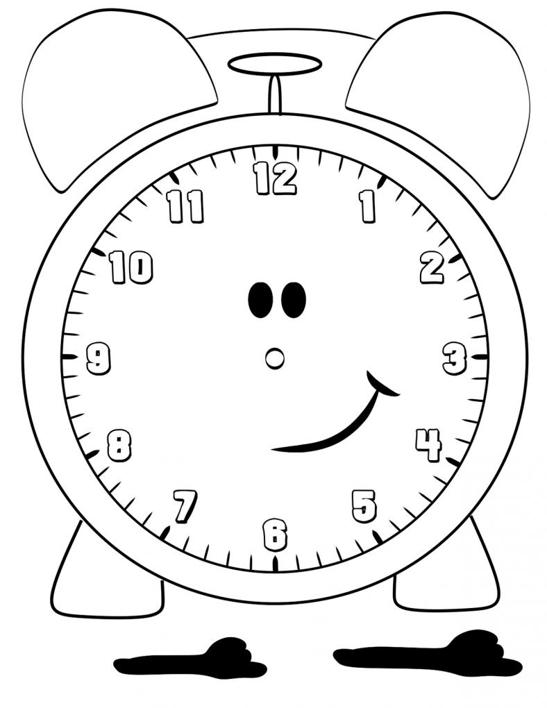 blank clock face template for kindergarten