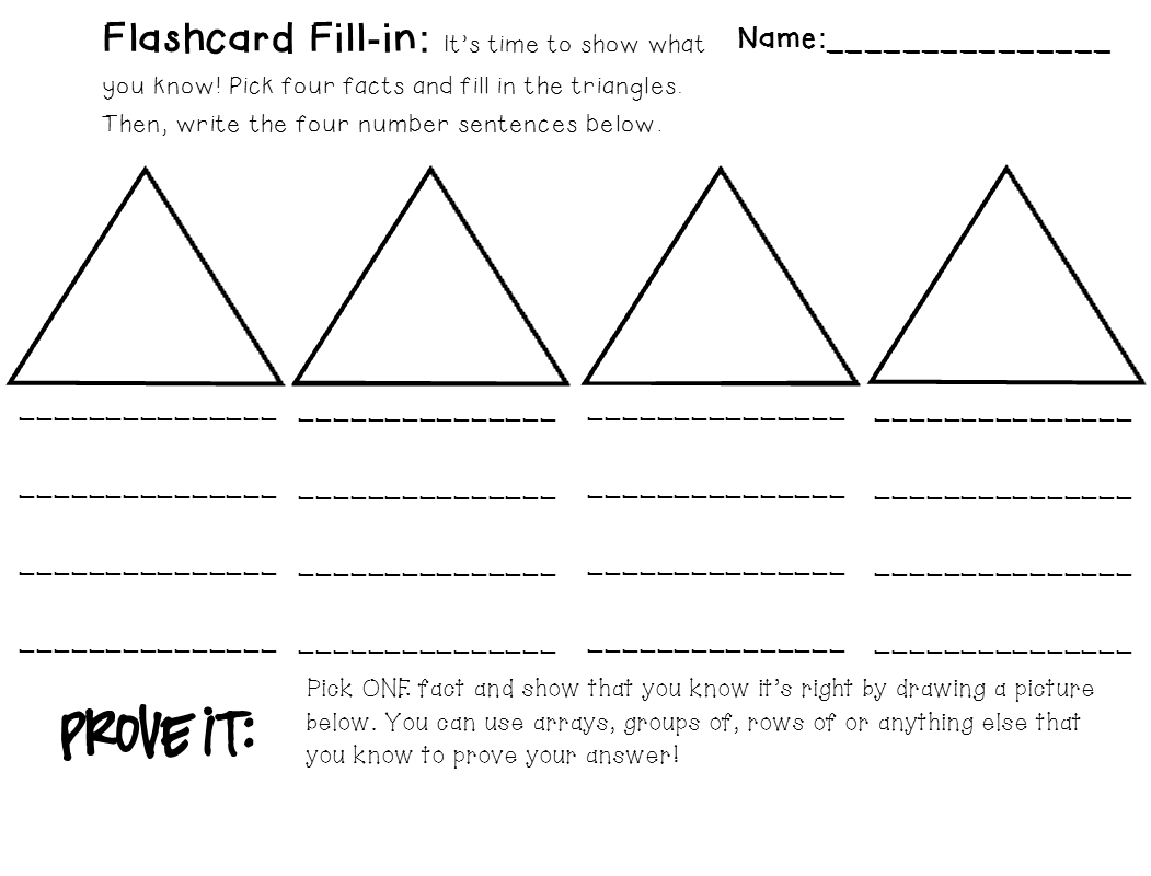 blank fact family worksheets for practice