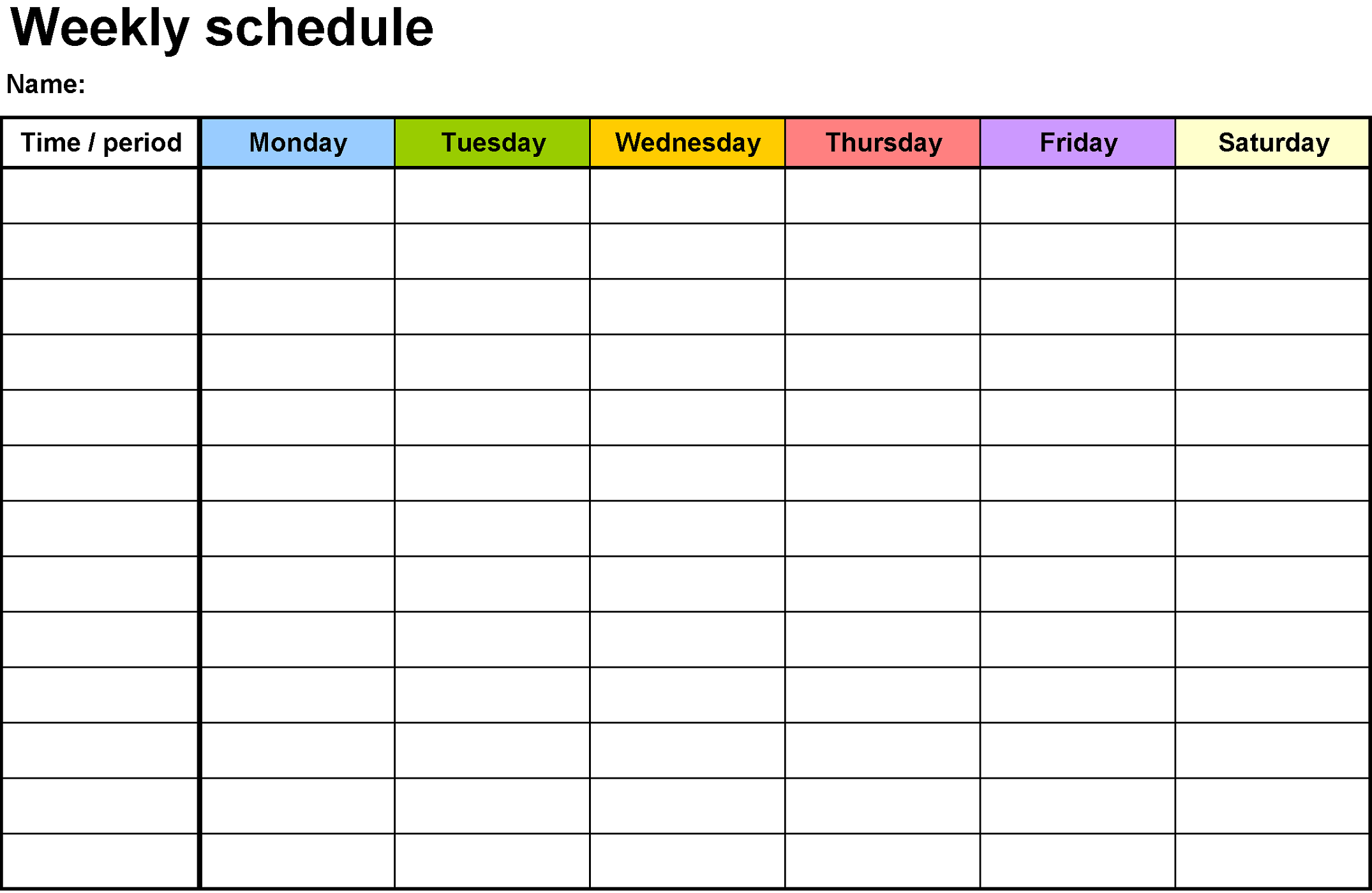 days of the week activity sheet