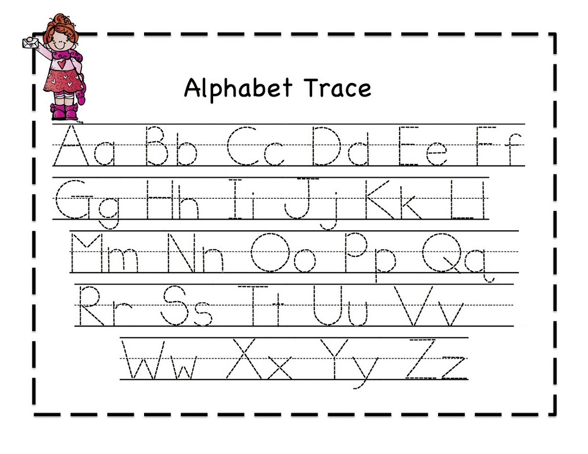 easy tracer pages for kids