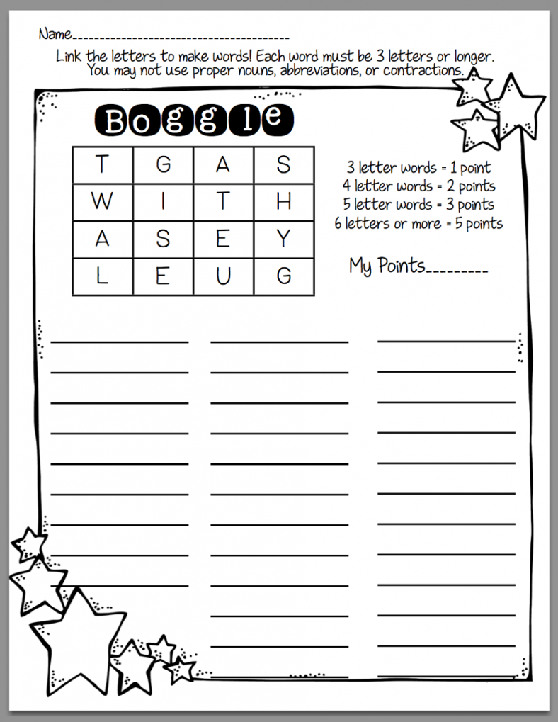 free boggle word games