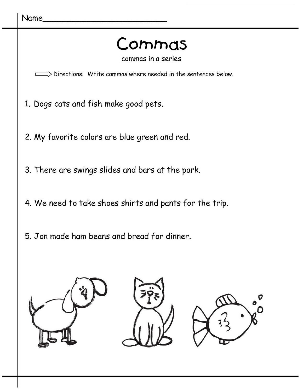 grammar free elementary worksheets