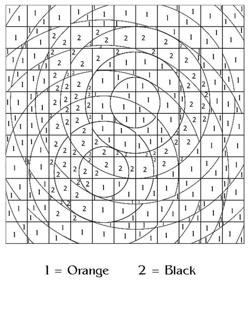 hard color by number worksheets for practice