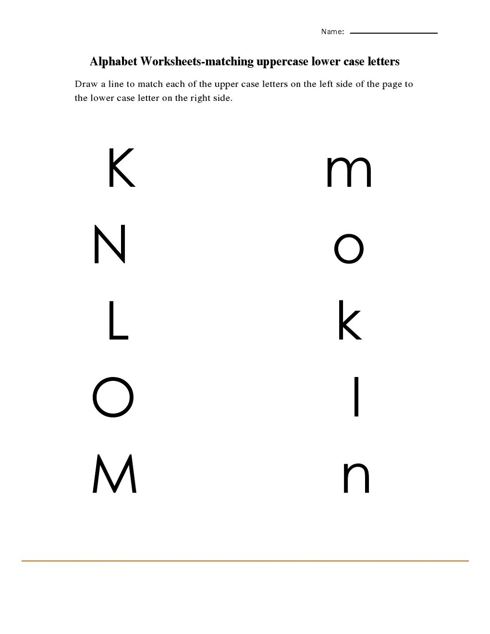 lowercase letters worksheet for practice