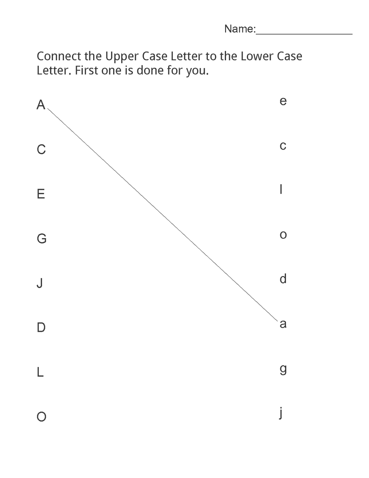matching free printable learning worksheets for preschoolers