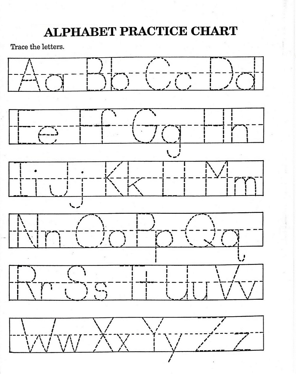practice abc tracer pages