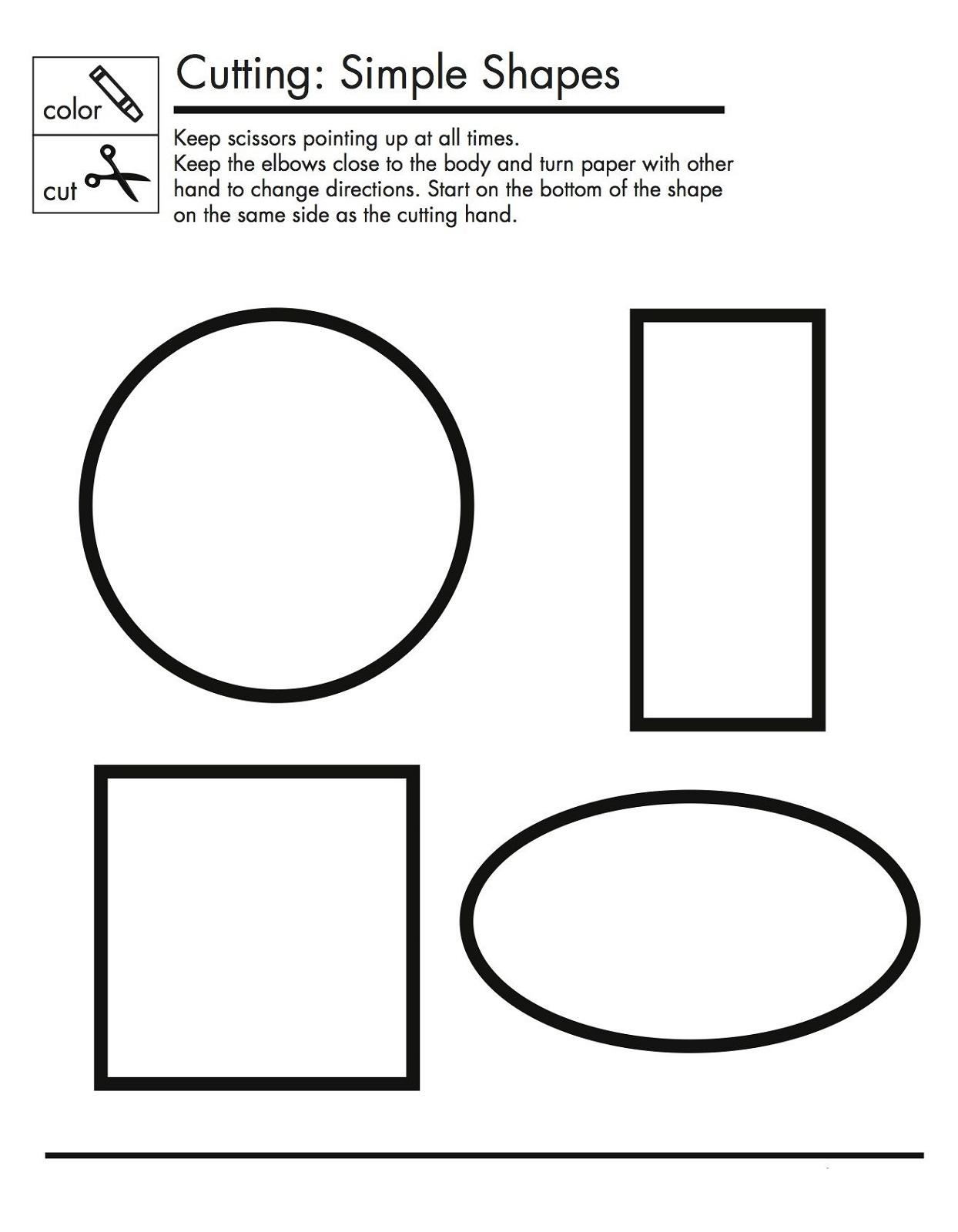 printable basic shapes worksheets