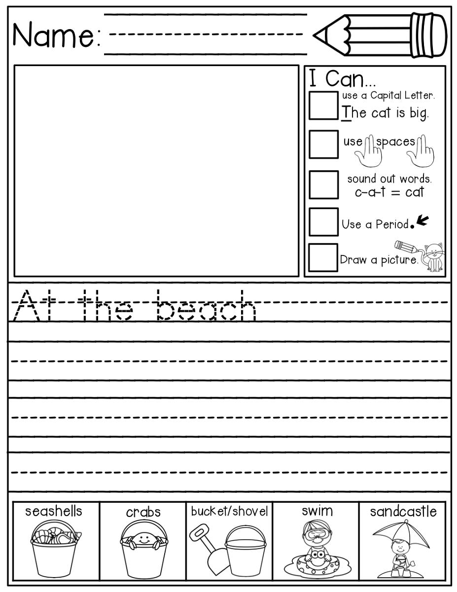 writting free elementary worksheets