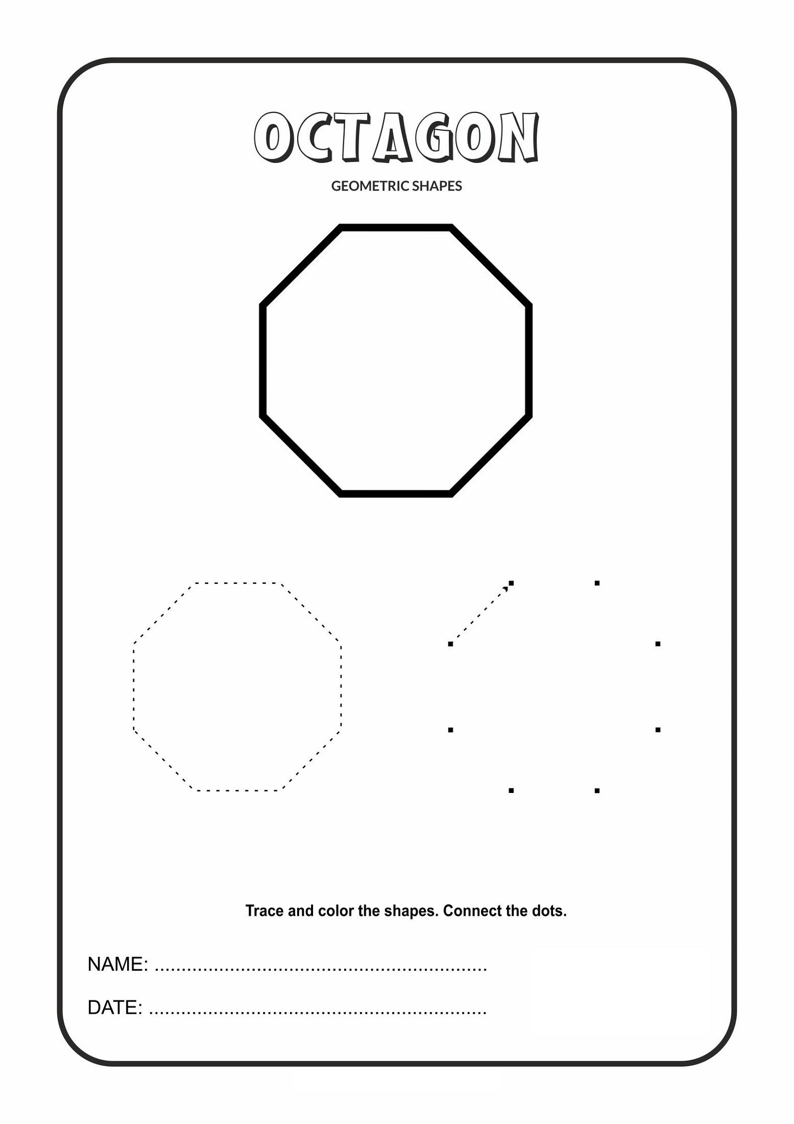 Octagon Shape Worksheets