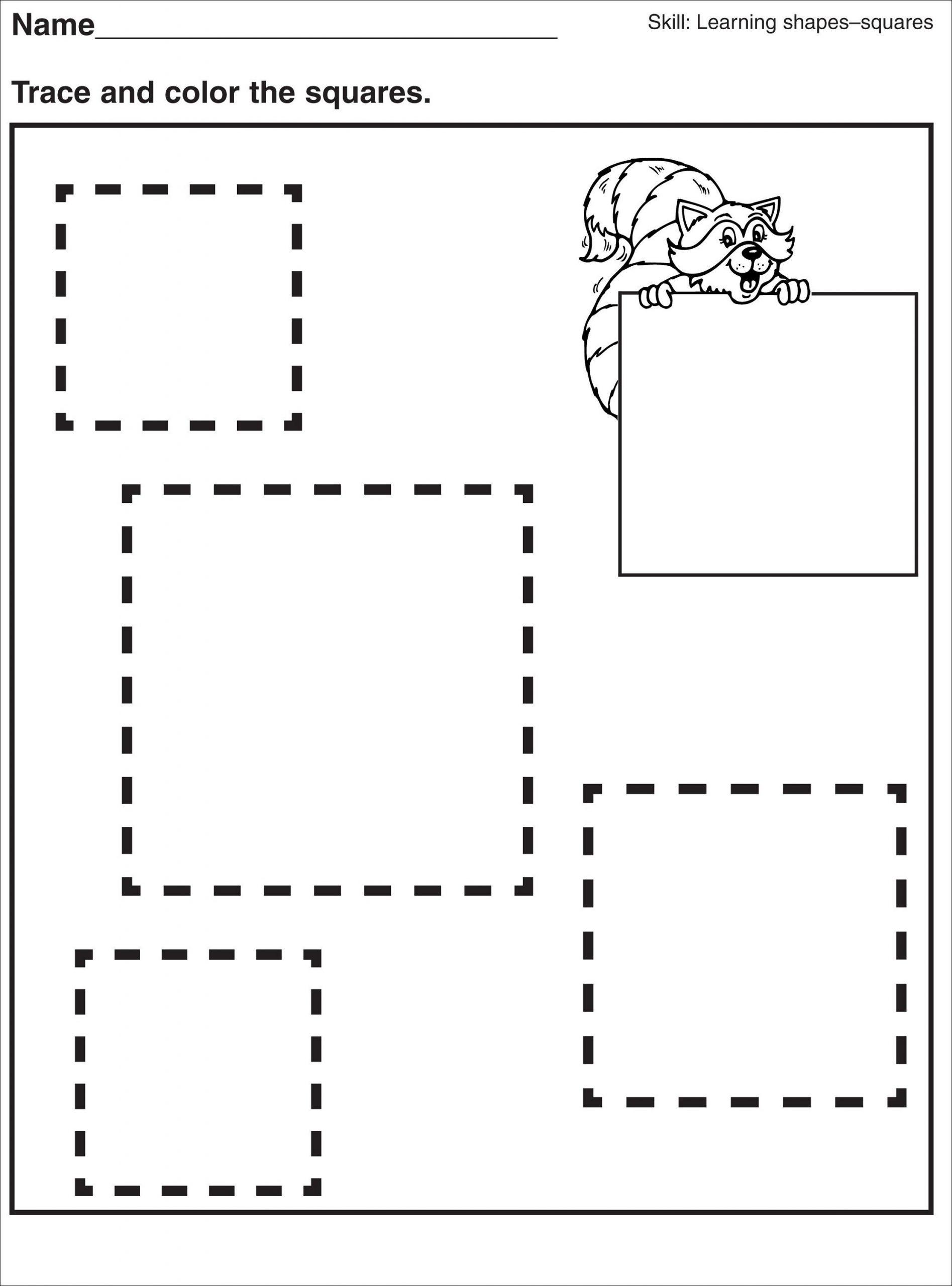 Pre-K Worksheets Printable Square