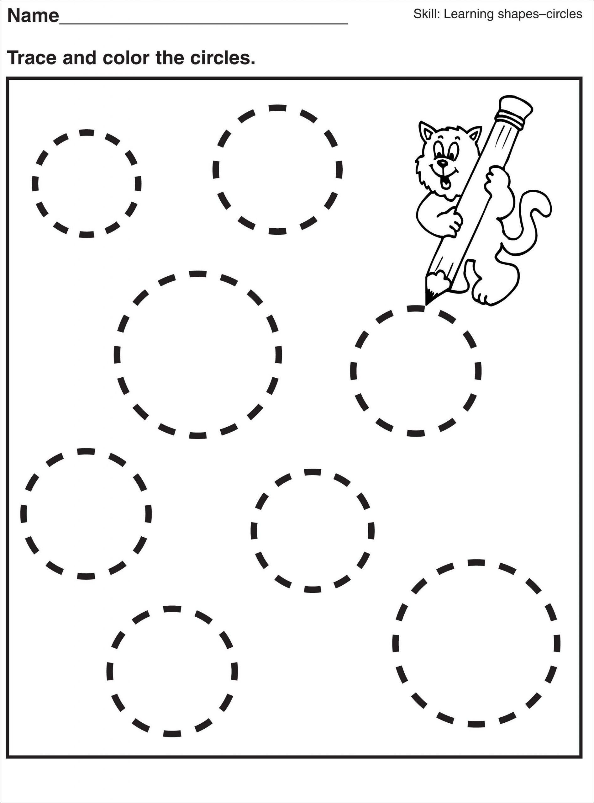 Preschool Shape Circle Worksheet