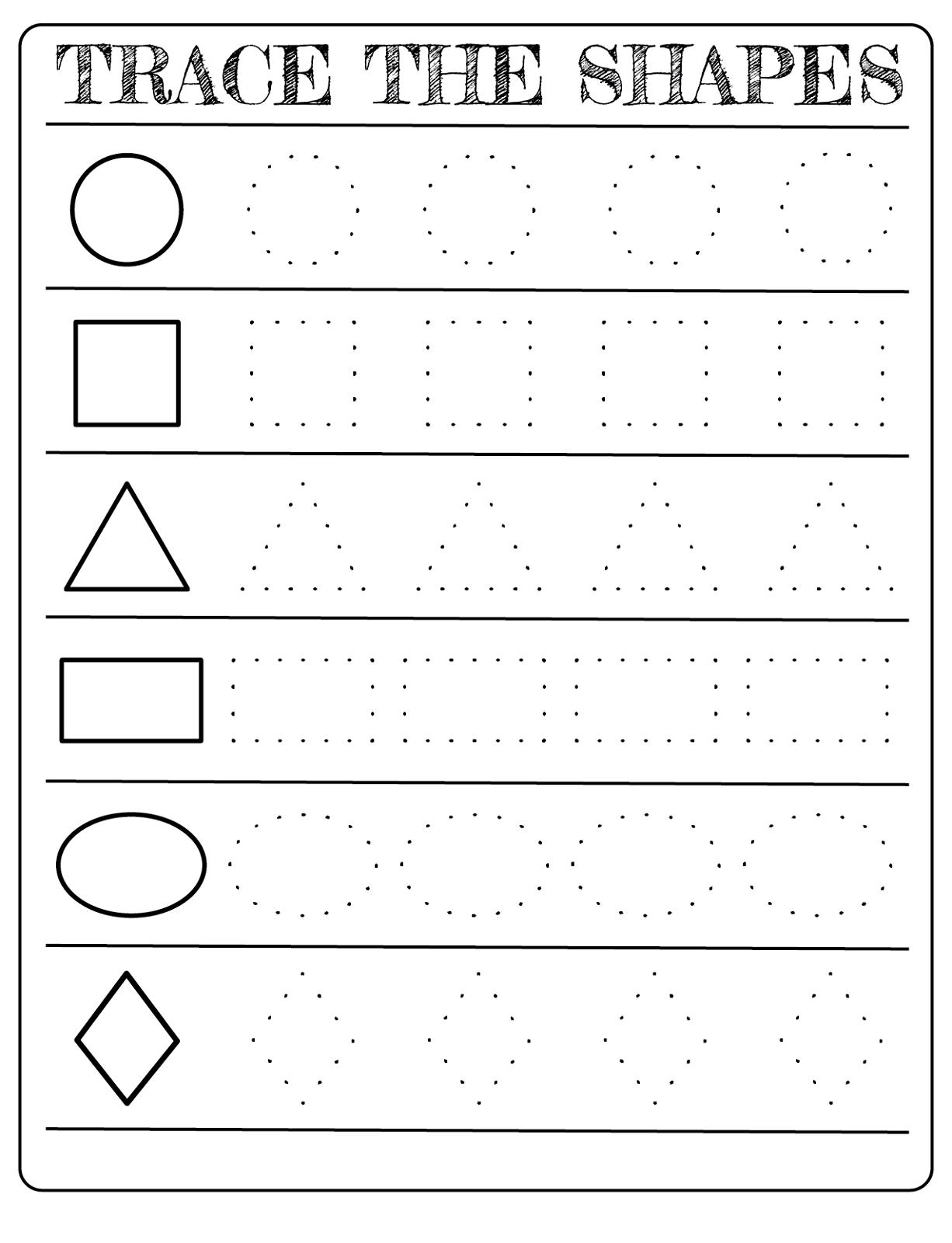 Preschool Shapes Worksheets