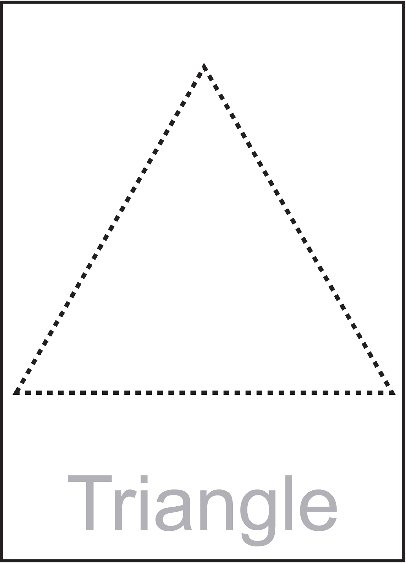 Triangle Worksheet for Pre-K