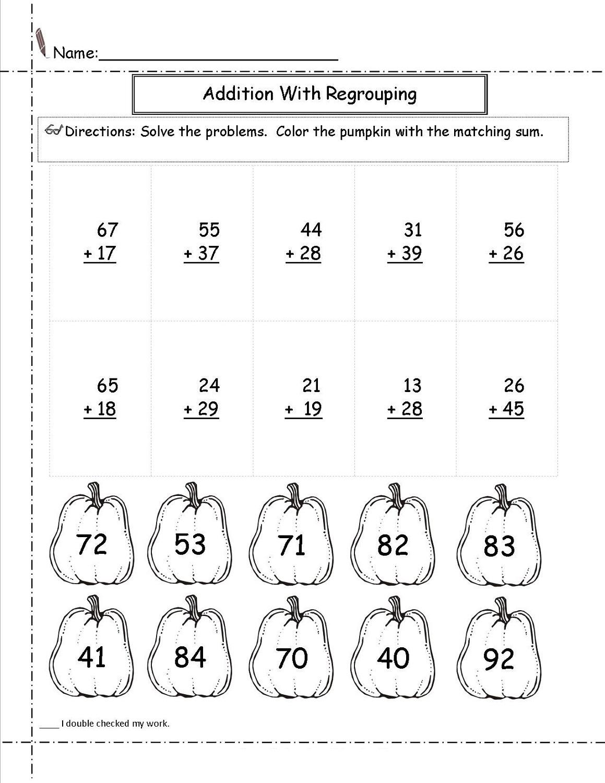 addition mathematics printable worksheets