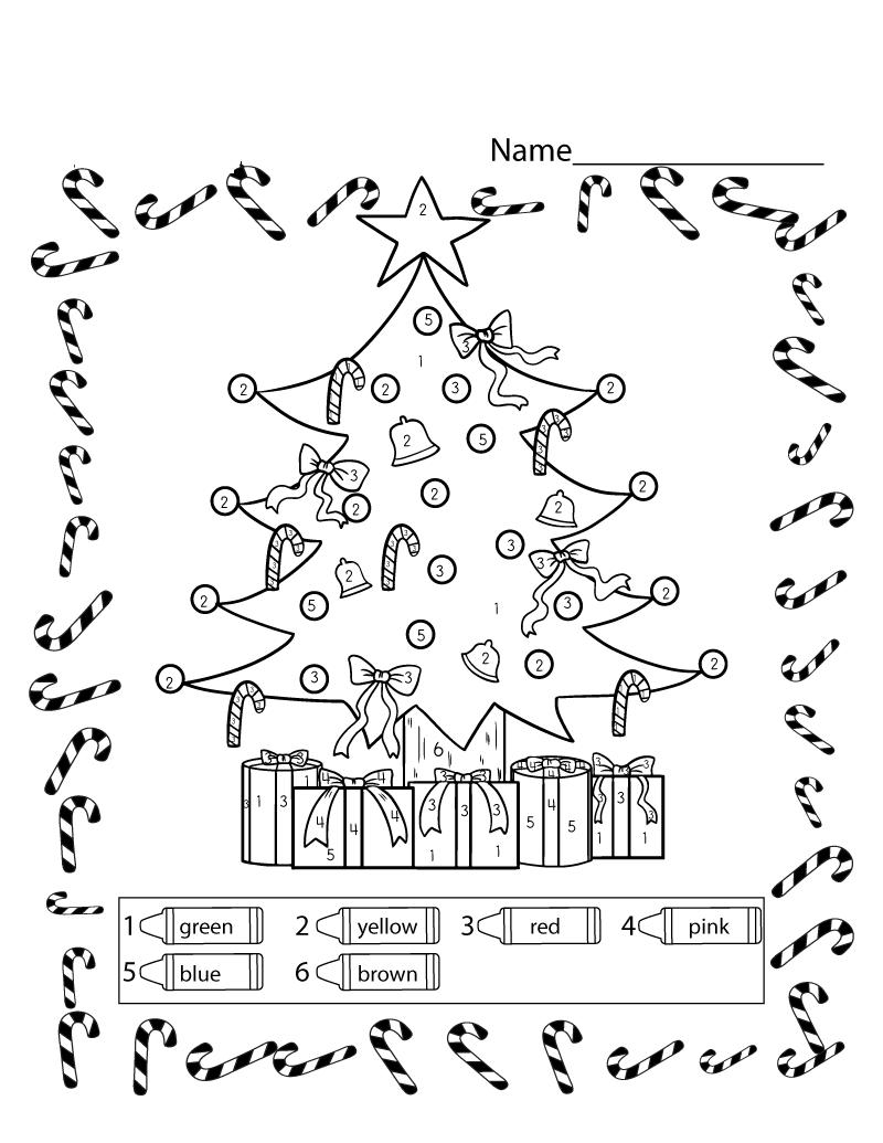christmast free educational worksheets