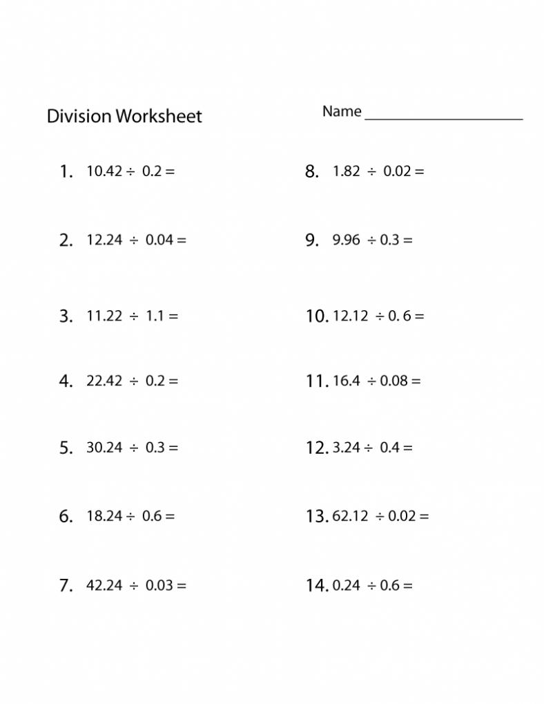 decimals mathematics printable worksheets