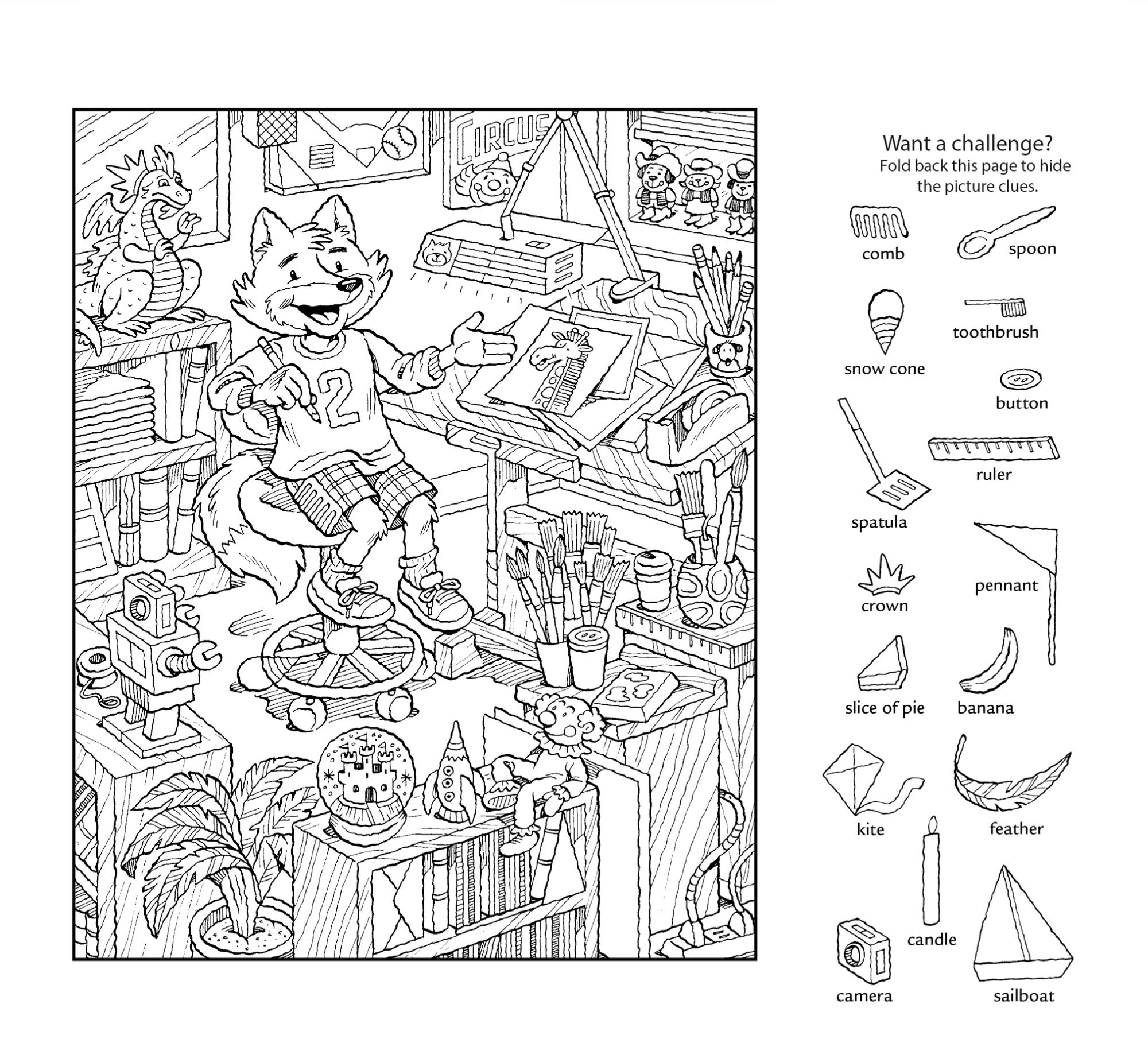 hidden pictures worksheet for fun