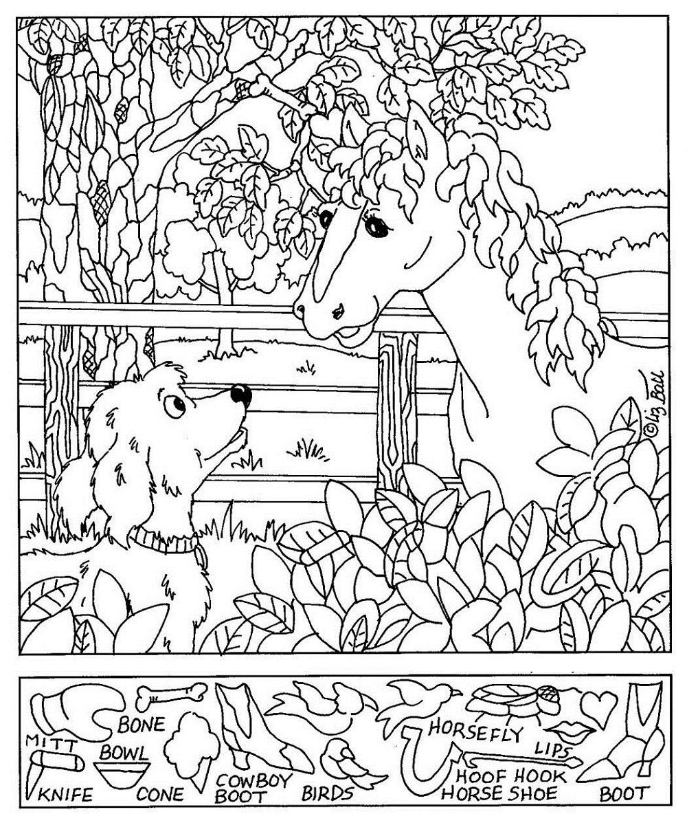 hidden pictures worksheet for kids