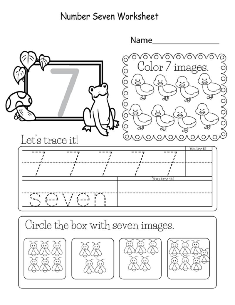 number 7 worksheet printable