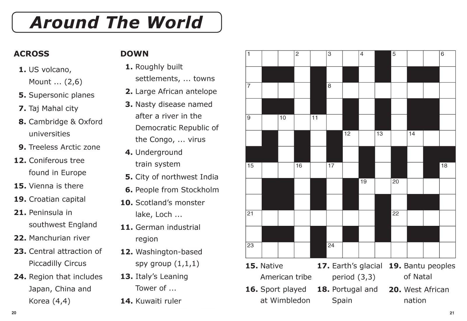 printable easy crossword puzzles for seniors