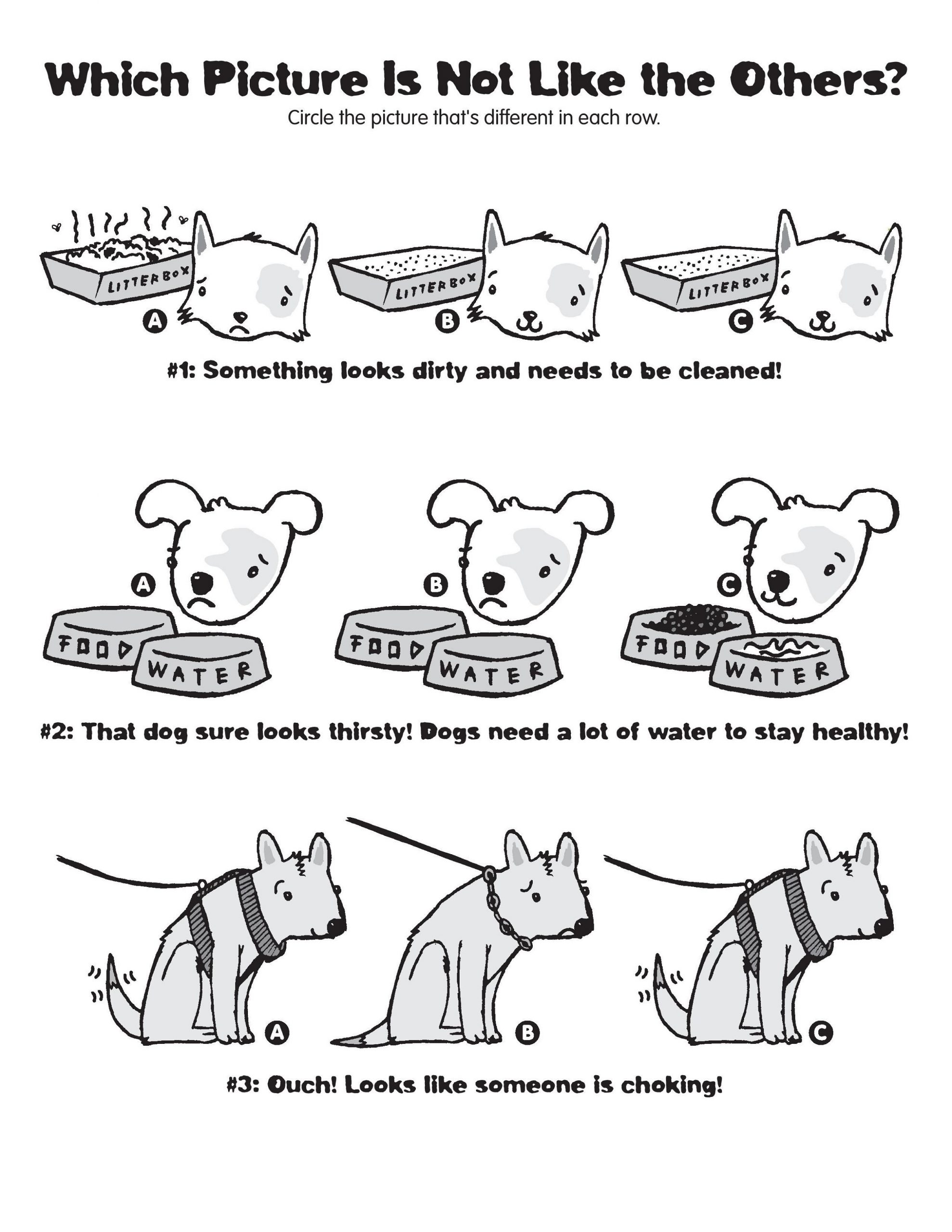 printable spot the difference worksheets