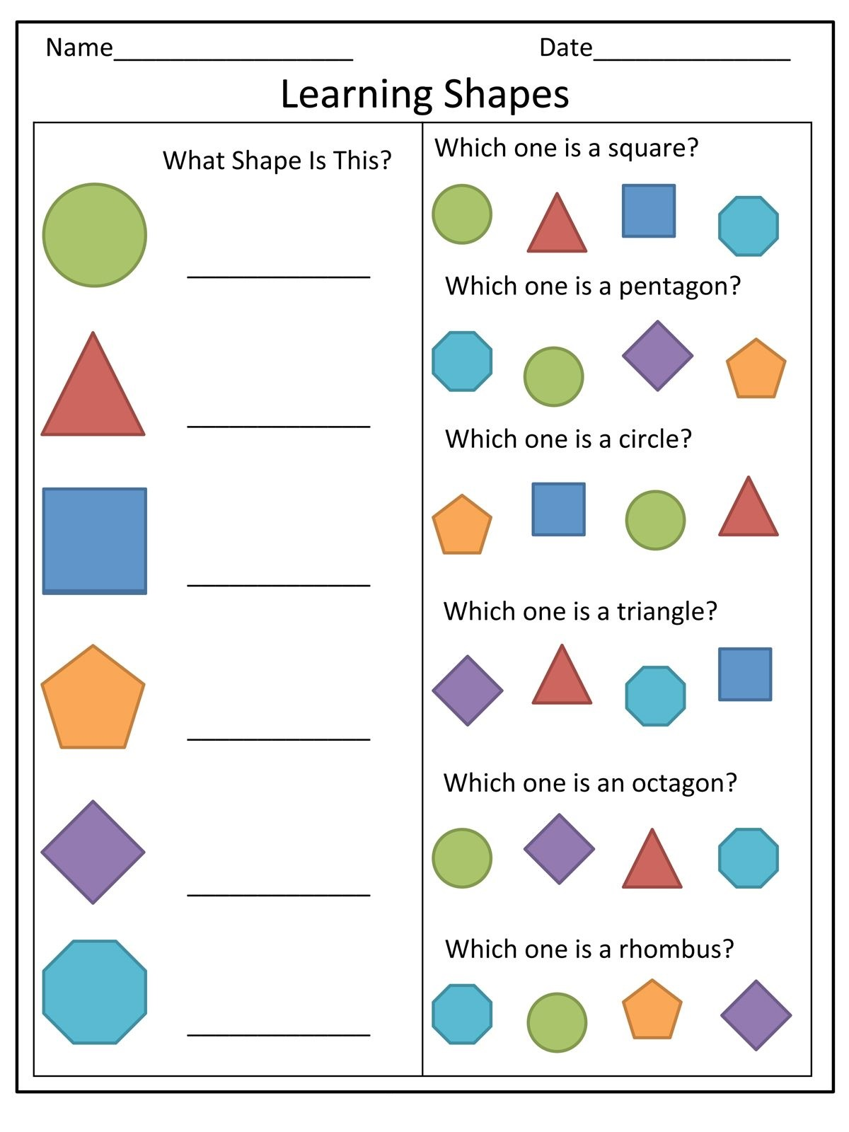 shapes toddler learning activities printable free