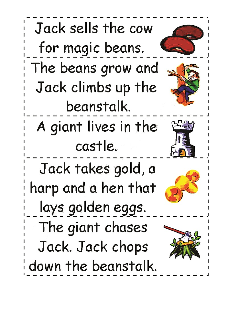 story jack and the beanstalk worksheets