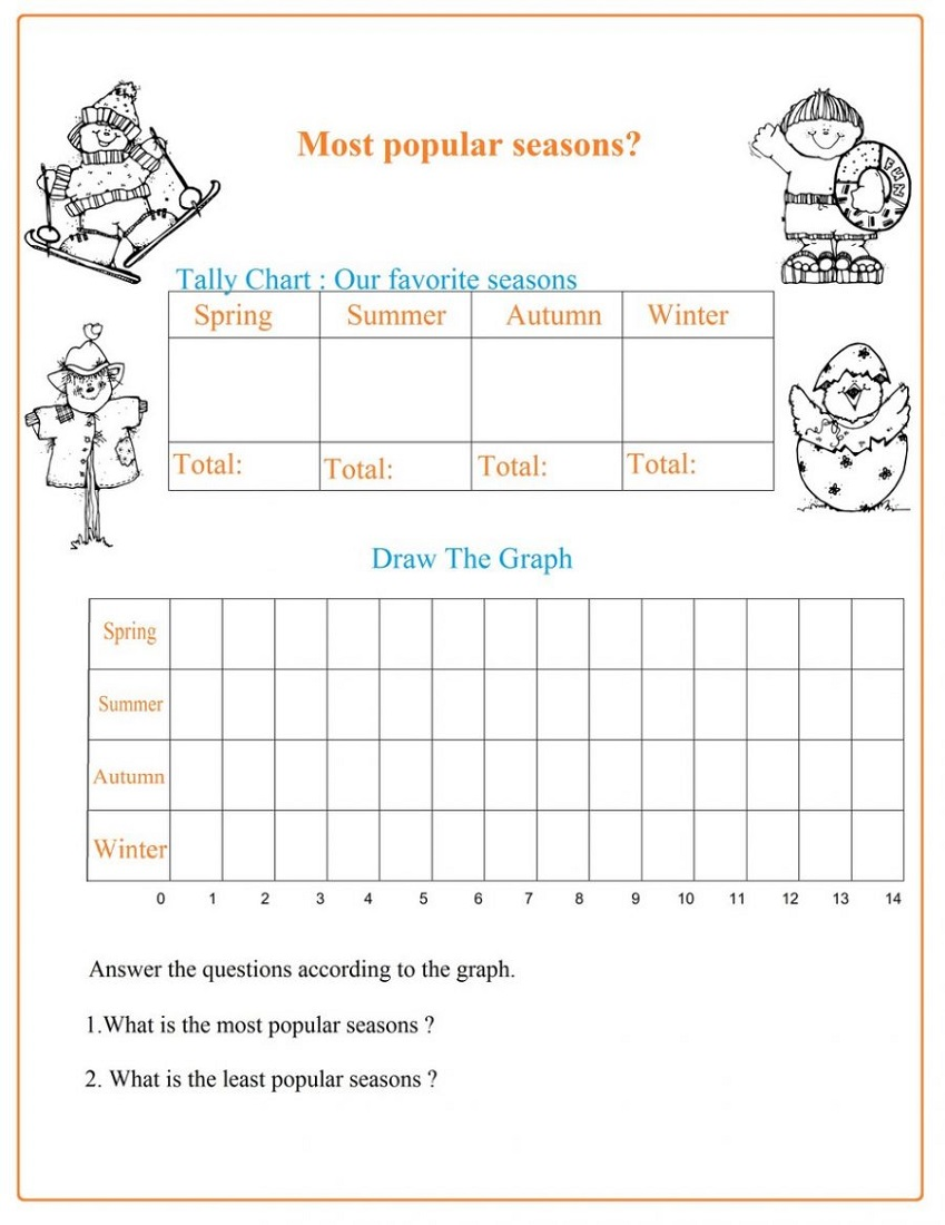 tally charts worksheets activity