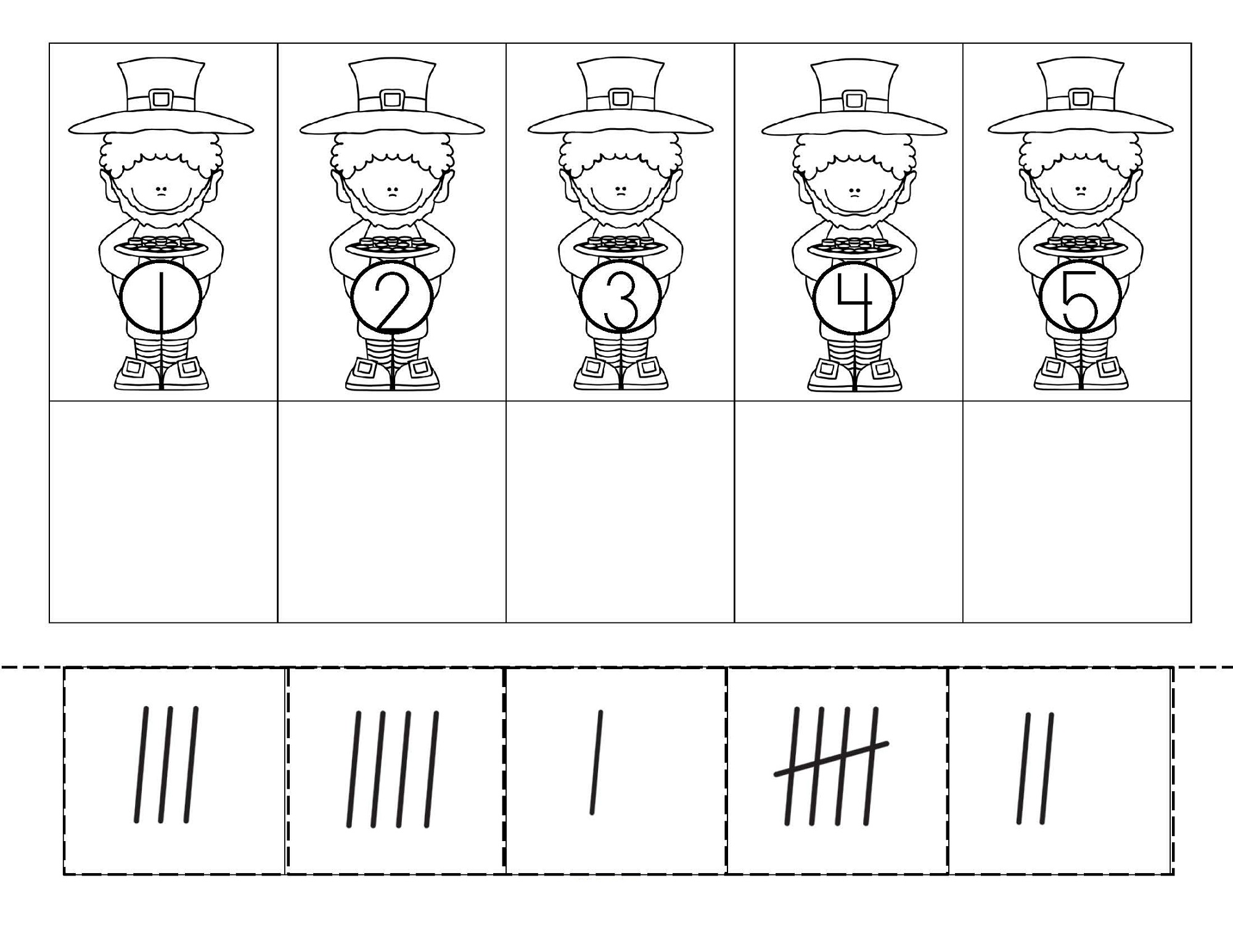 tally charts worksheets for kids