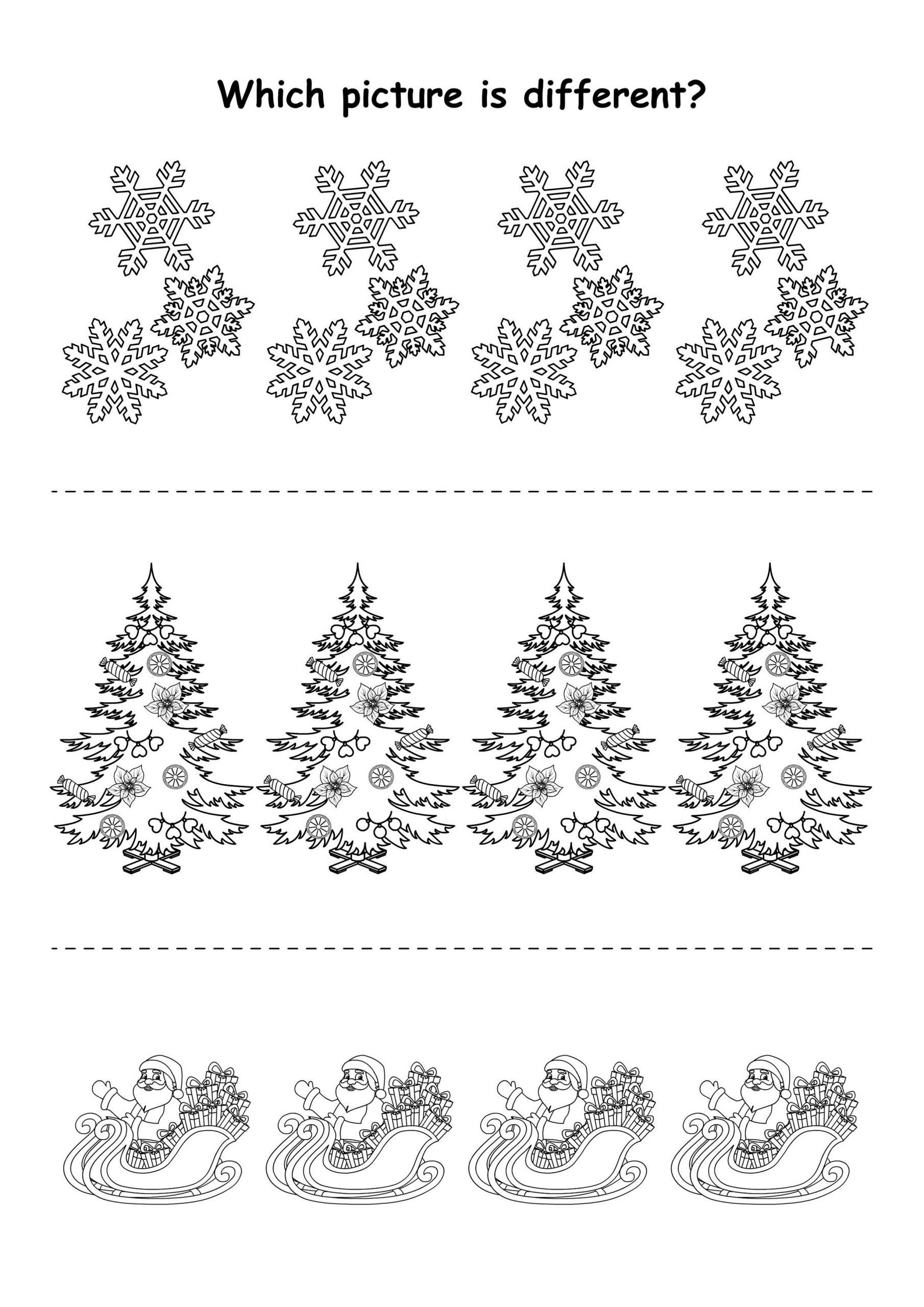 winter pot the difference worksheets