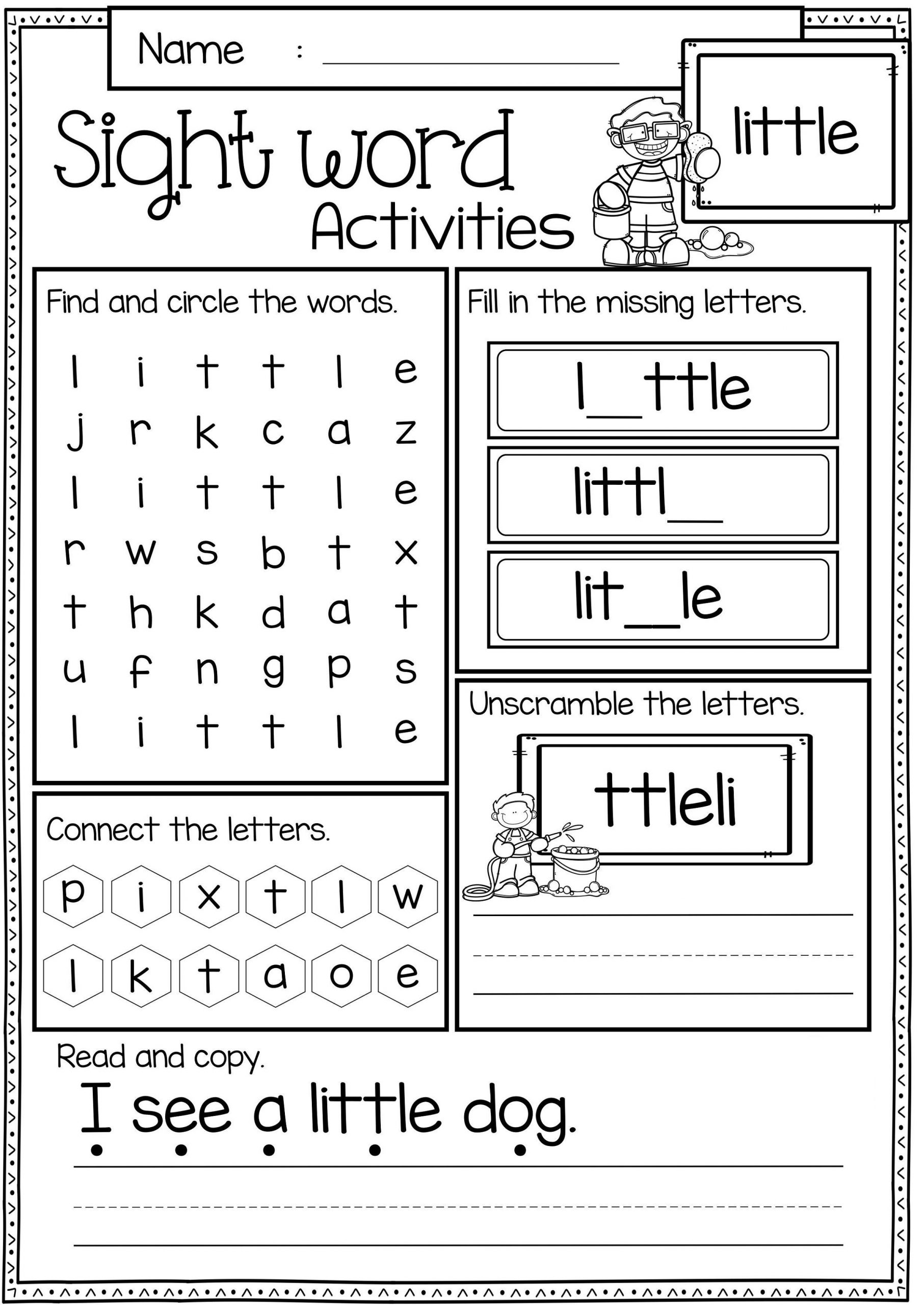 word game worksheets for practice