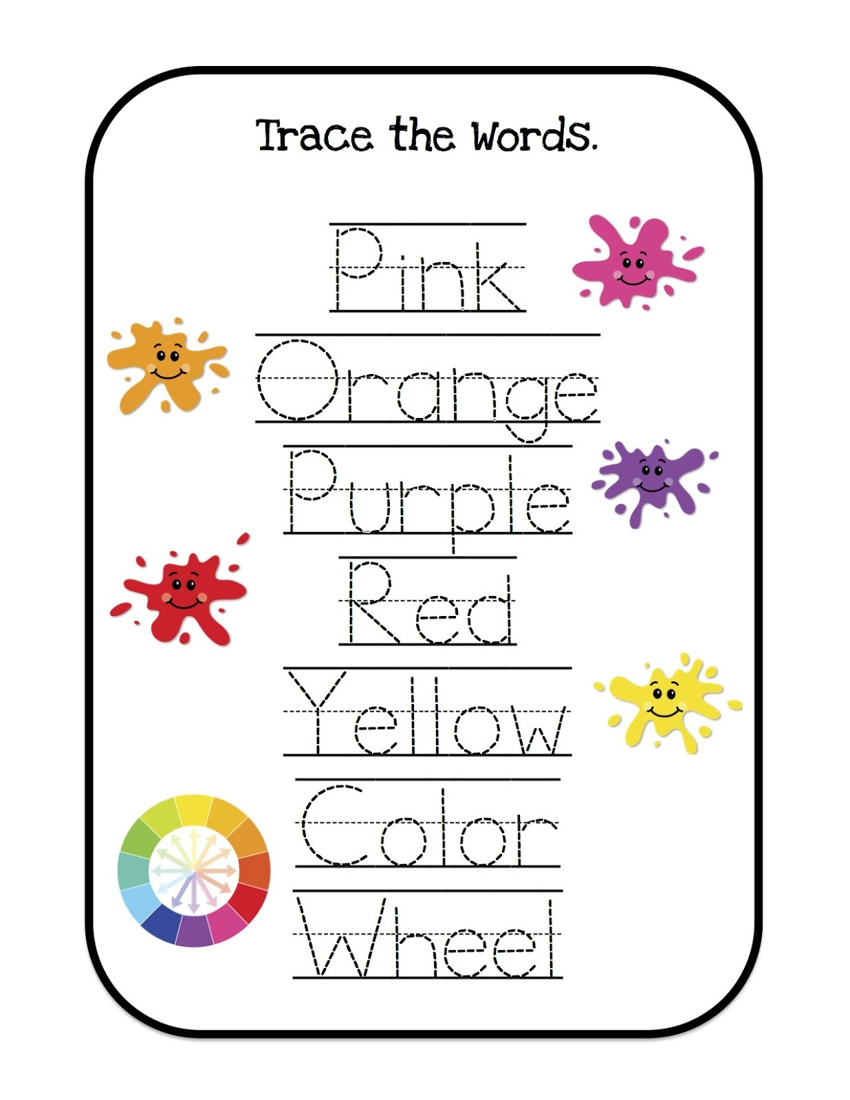 words toddler learning activities printable free
