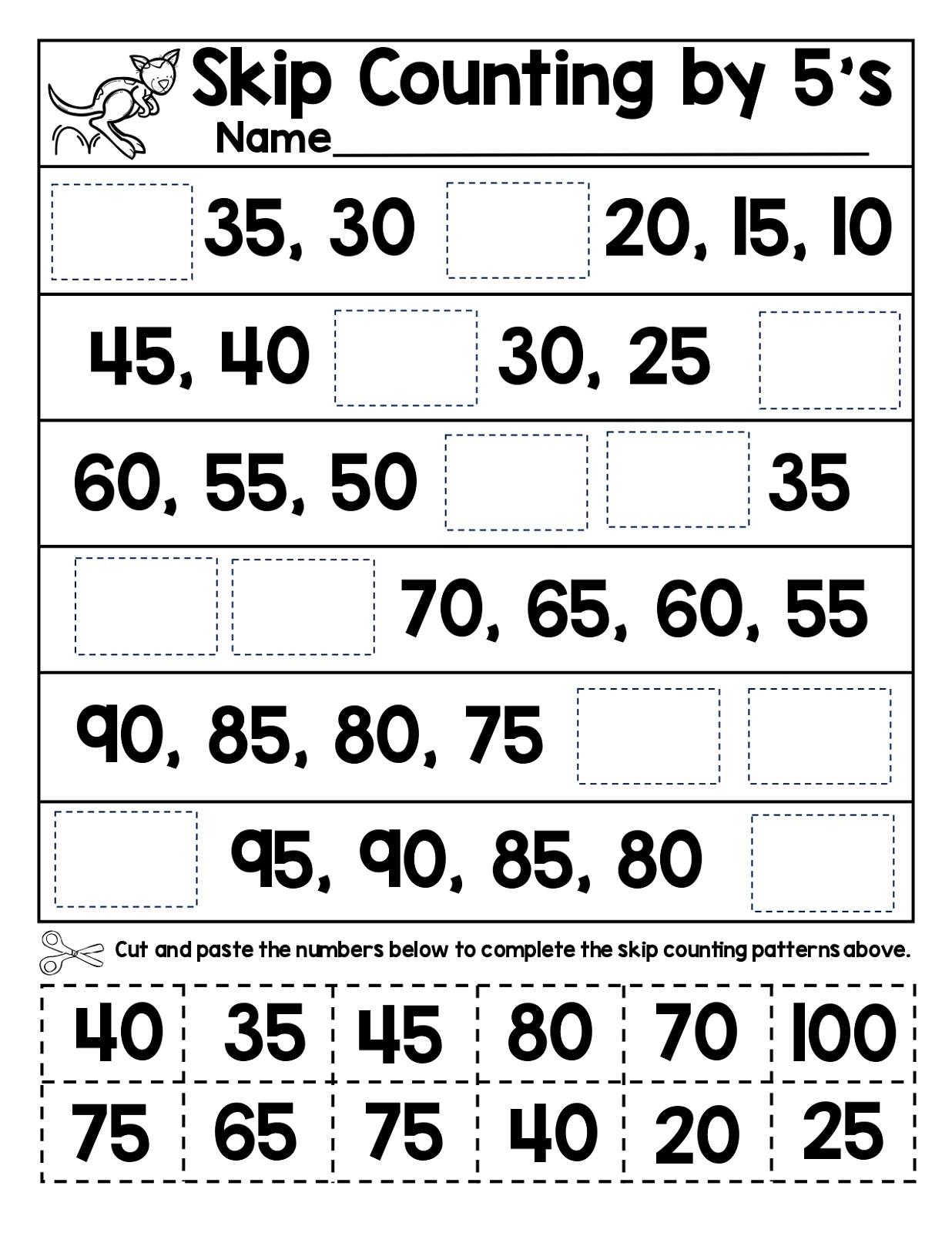 counting free fun math worksheets