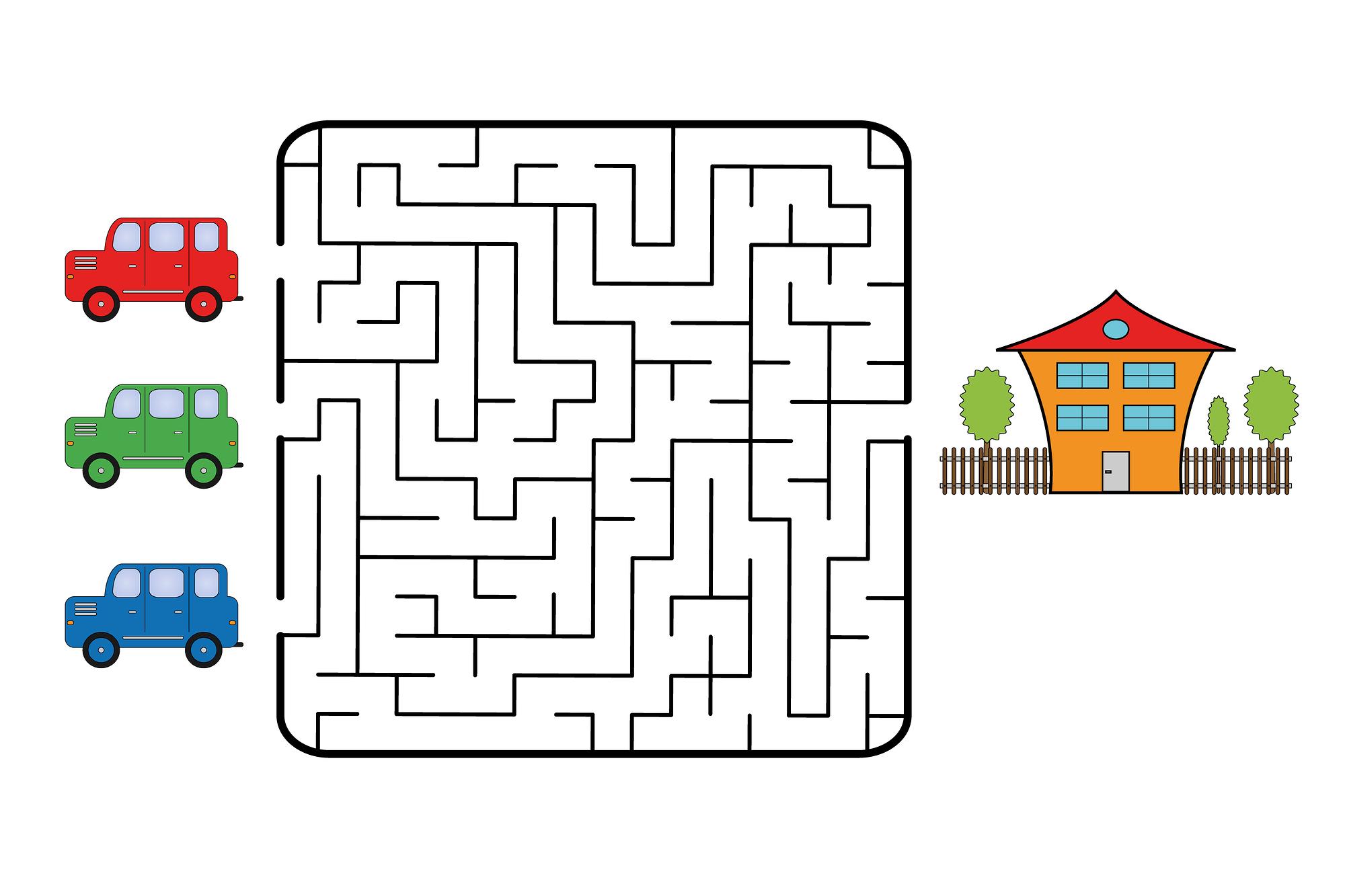 easy fun mazes for kids