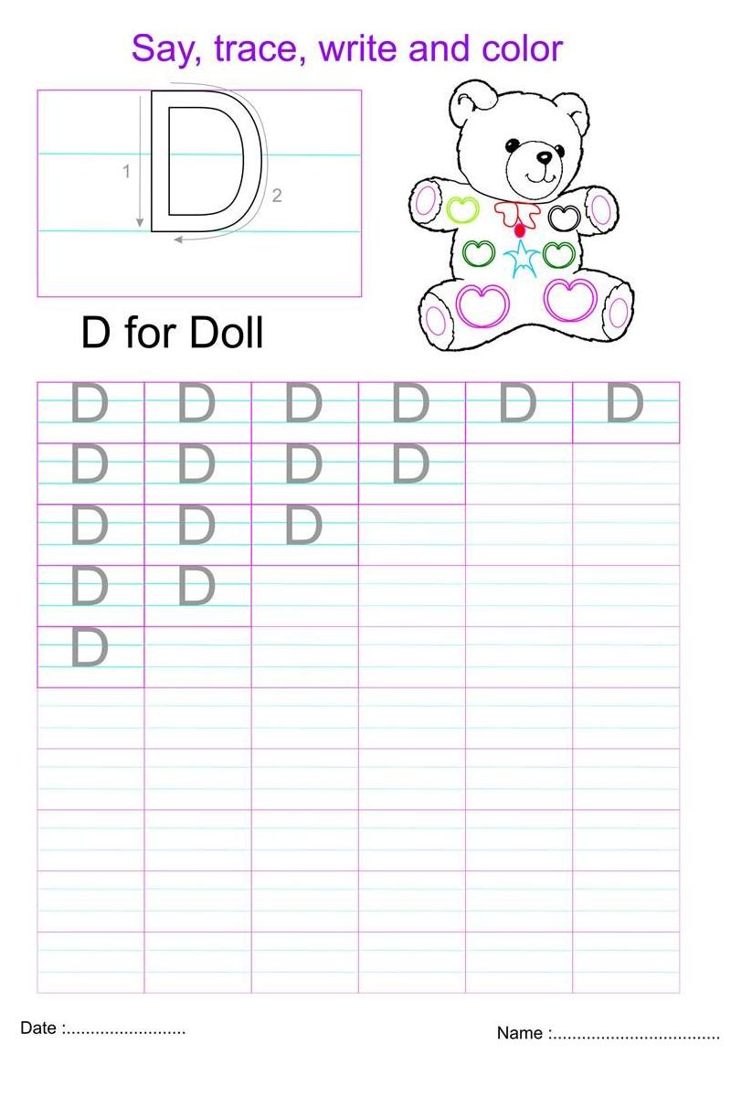 fun capital letter worksheets