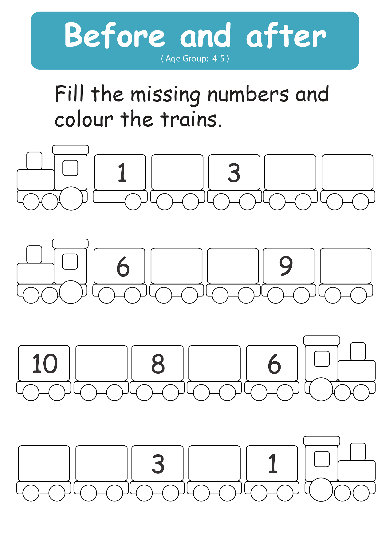 fun free numeracy worksheets