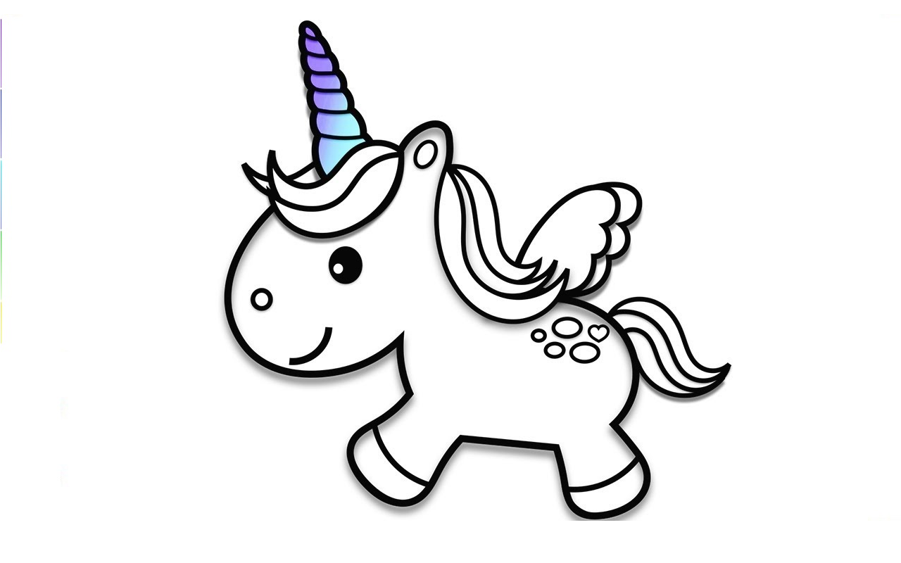 funny unicorn color pages