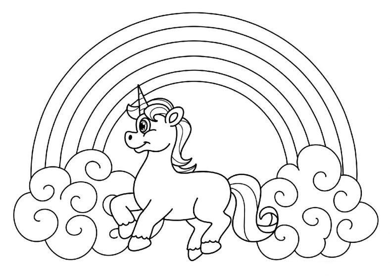 unicorn color pages activity