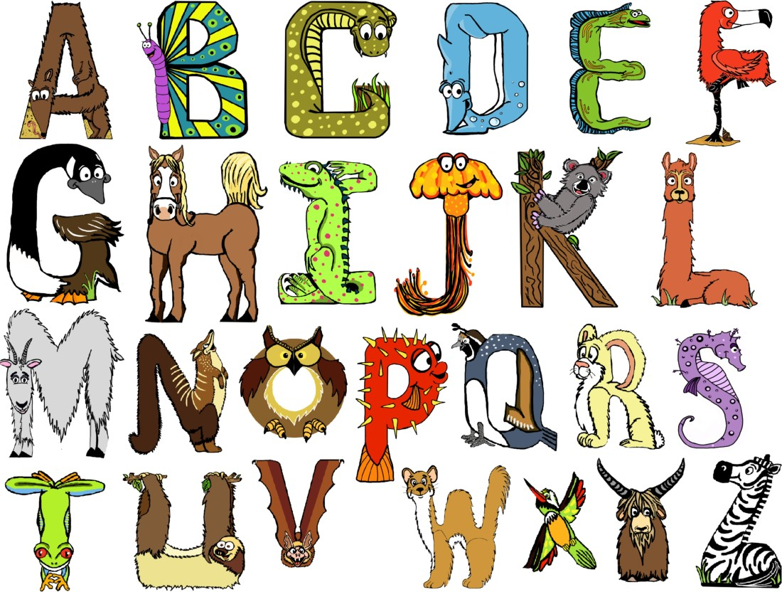 animal shaped letters for learning
