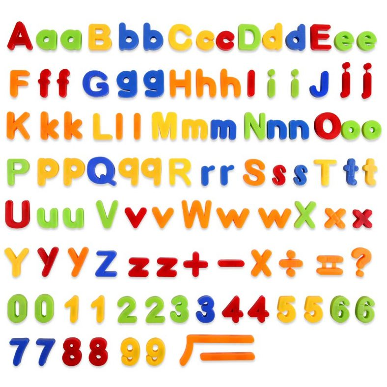 colored letters and numbers for kids