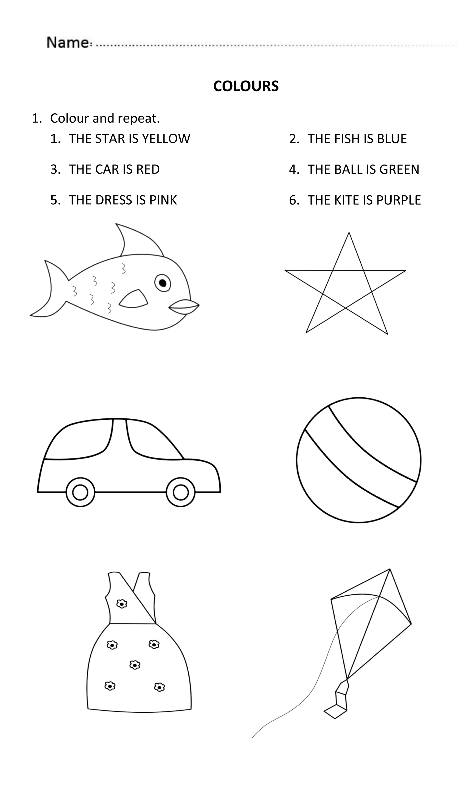 colors worksheets for 5 year olds