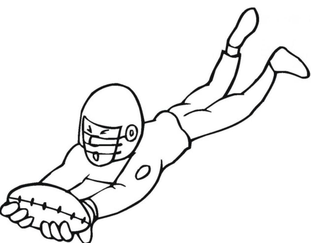 easy football color sheets