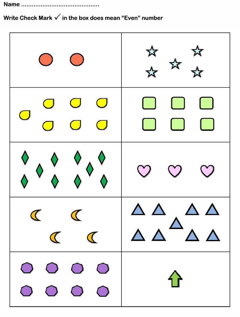 even and odd numbers worksheet for kids