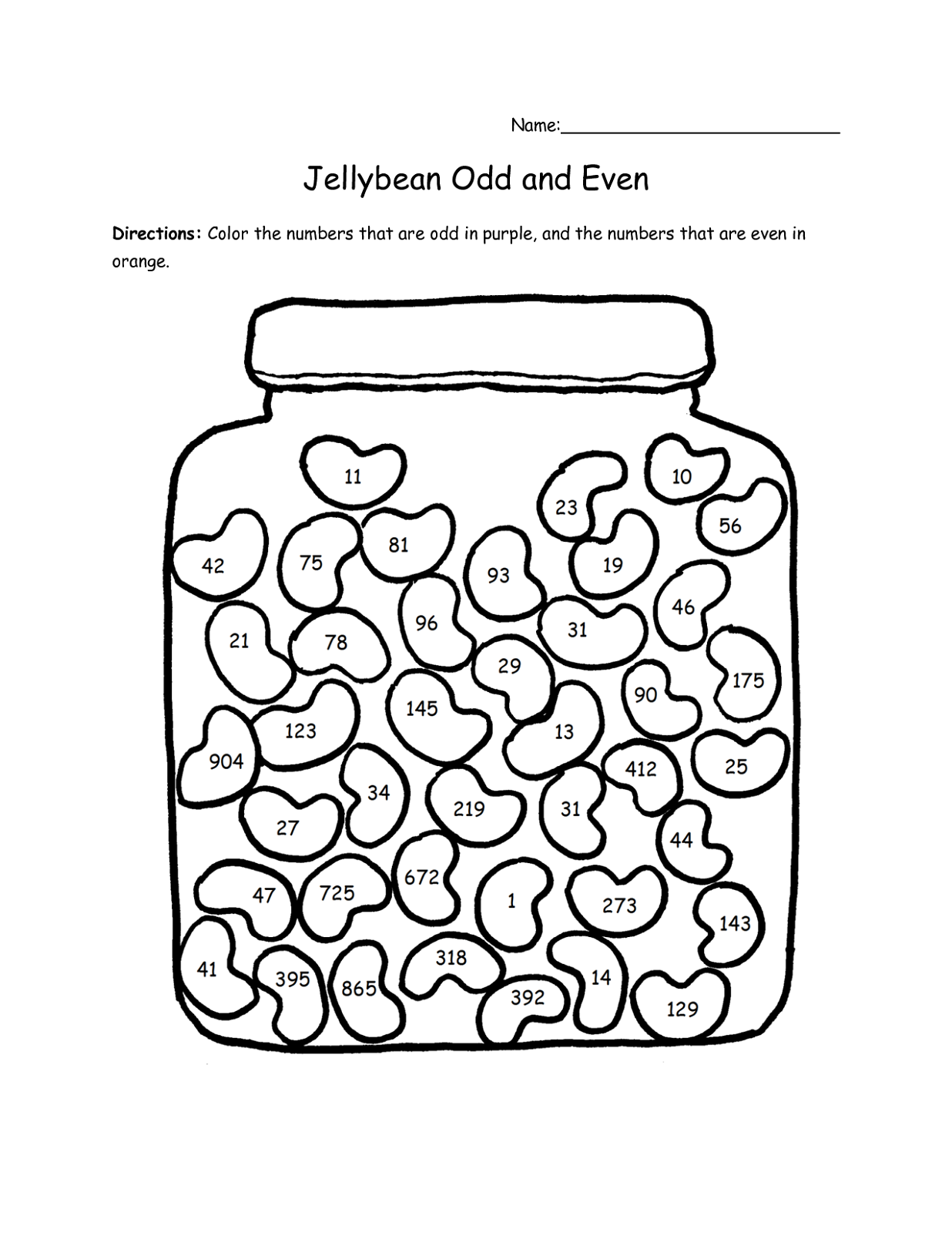 even and odd numbers worksheet printable