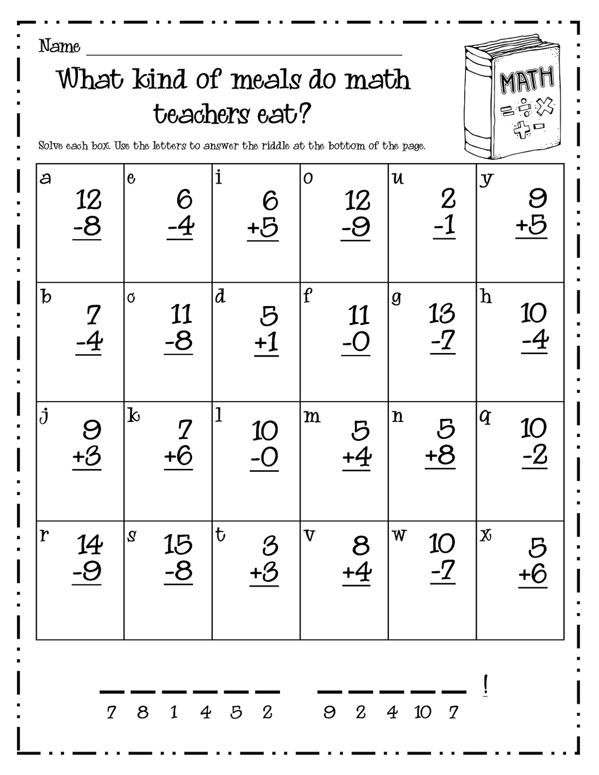first grade free math practice sheets