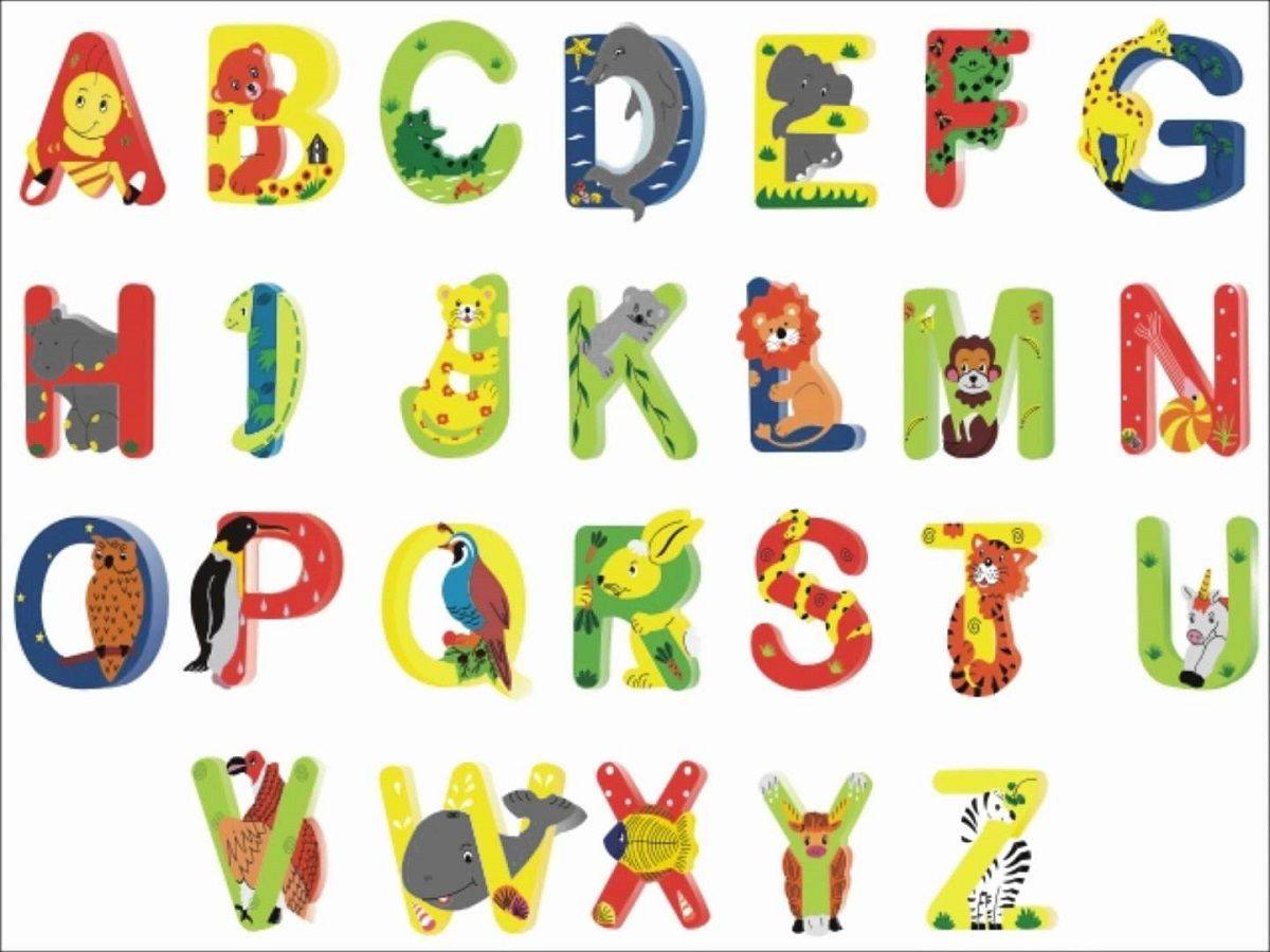free animal shaped letters